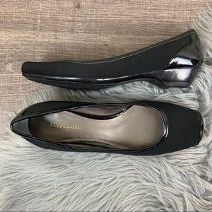 Pappagallo Jenises Square Toe Ballet Flat Black